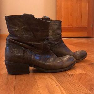 Frye dark grey booties - Size 7
